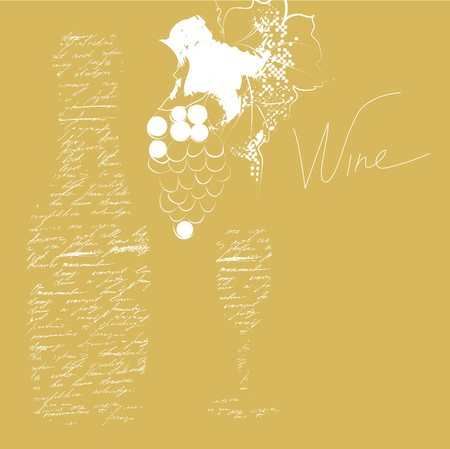 inscription: background with inscription wine  Illustration