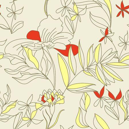 hayfield: Romantic seamless wallpaper