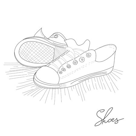 shoe strings: Sport shoes