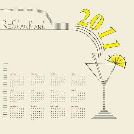 Decorative calendar 2011 Vector
