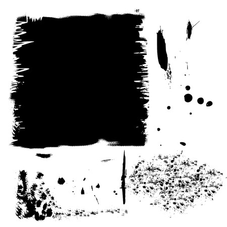 Set of black ink spots Stock Vector - 7275294