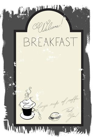 Template for breakfast menu Vector