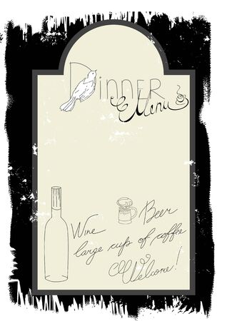 Template for dinner menu Vector