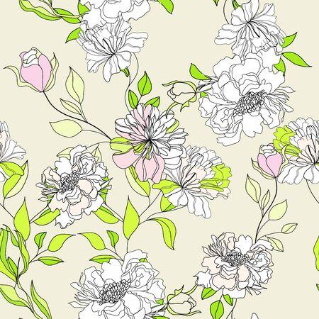 Romantic seamless wallpaper