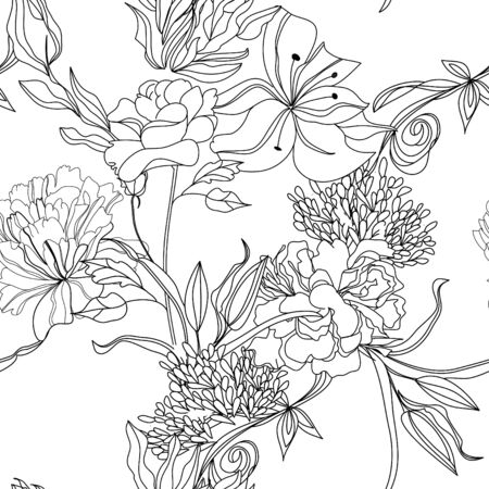 wedding symbol: Monochrome seamless pattern  Illustration