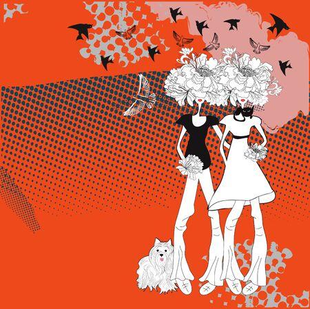 Dos chicas jóvenes