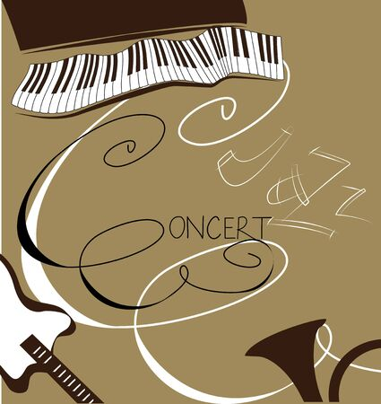 Original background with inscription Concert, Jazz Stock Vector - 7420349