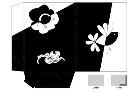 die: Template for folder design Illustration
