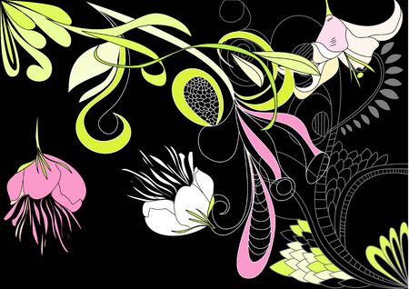 Decorative background with floral element Stock Vector - 7439420