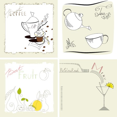 Set of template for menu Stock Vector - 7439428