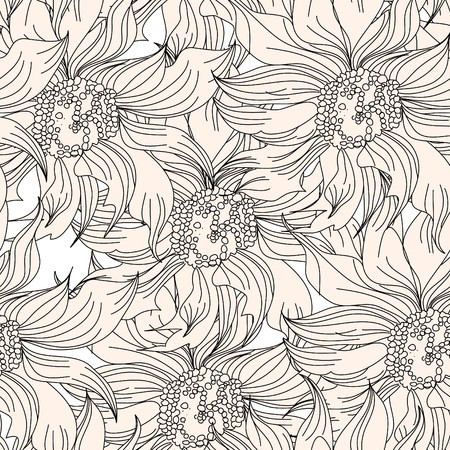 Floral seamless wallpaper Stock Vector - 7439520