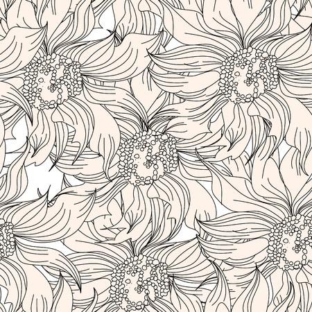 Floral seamless wallpaper Stock Vector - 7439520
