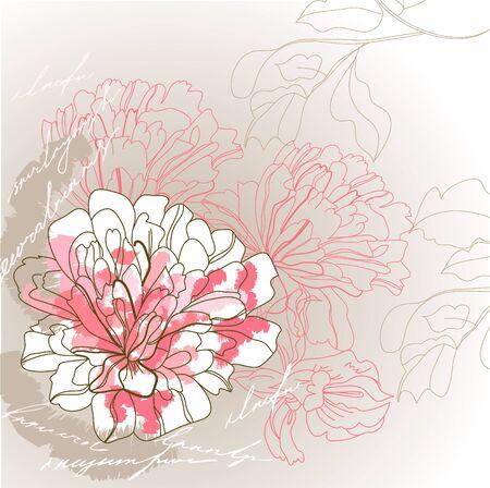 pion: Romantic background Illustration