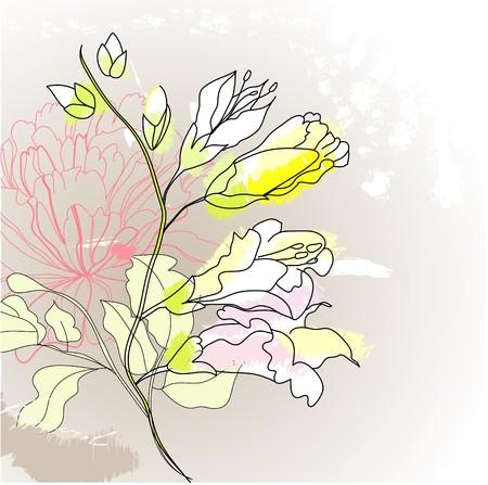 Romantic flowers Stock Vector - 7462954