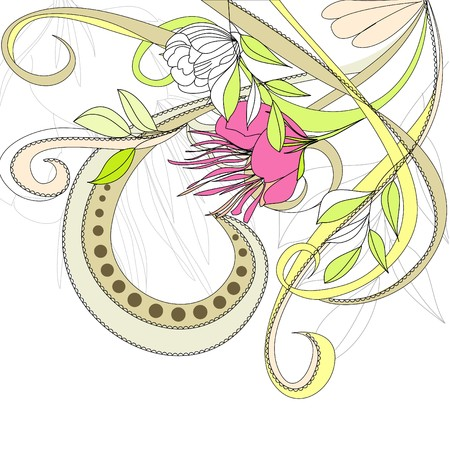 paeony: Romantic background Illustration
