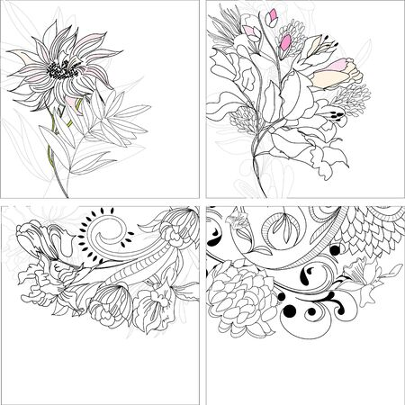 Set 9, floral background  Stock Vector - 7509254