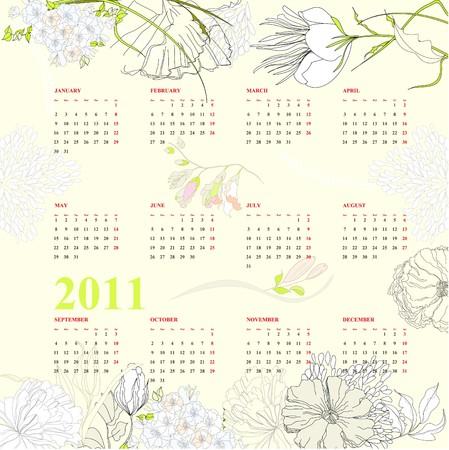 weekly planner: Calendar for 2011