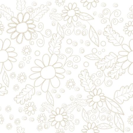 Seamless pattern with vector floral element Illustration