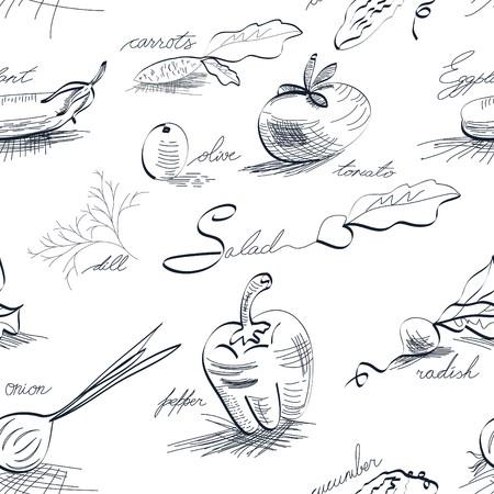 aubergine: Seamless_wallpaper mit Gem�se