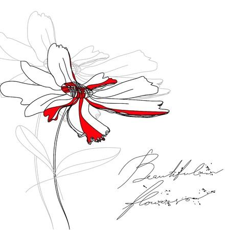 stylized design: Bel fiore  Vettoriali