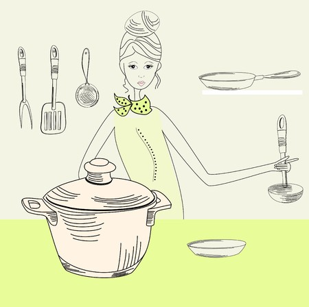 dinne: Cook woman