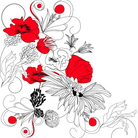 contraste: Fondo floral de contraste