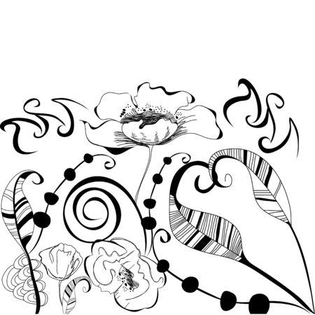Modèle décoratif pour la carte de voeux