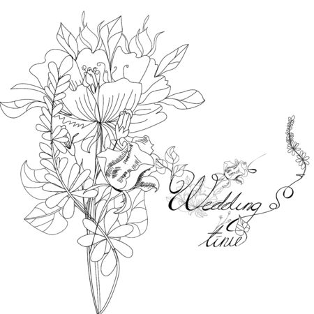 Template for wedding card Stock Vector - 7717812