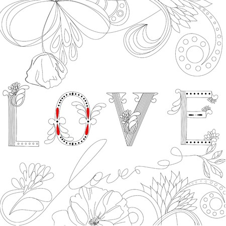 Inscription LOVE Stock Vector - 7717811