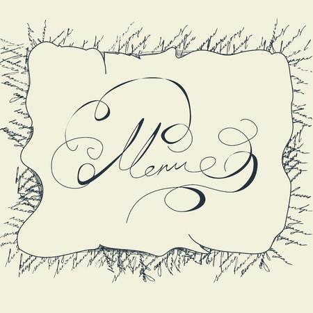 superscription: Inscription Menu Illustration