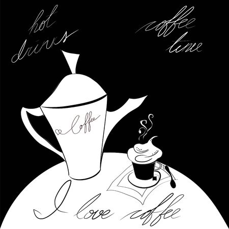 J love coffee Vector