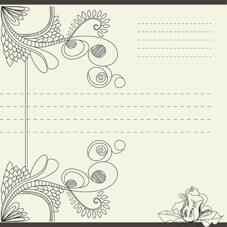 Vintage template for note paper Vector