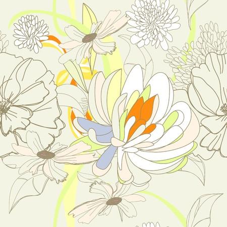 Seamless wallpaper  Illustration