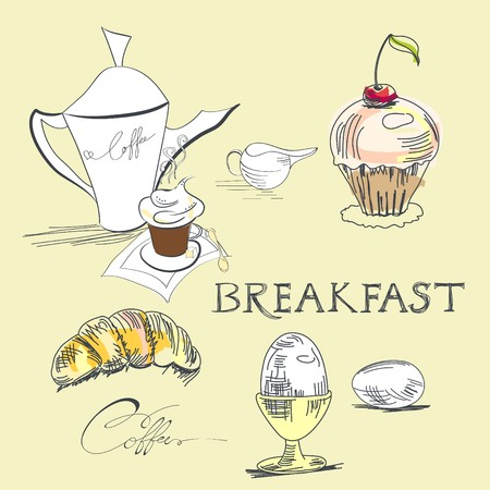 chocolate egg: Breakfast Illustration