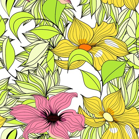 paeony: Seamless floral wallpaper