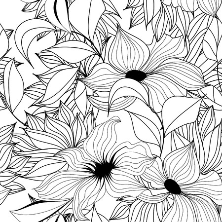 monochroom: Monochrome naadloze wallpaper