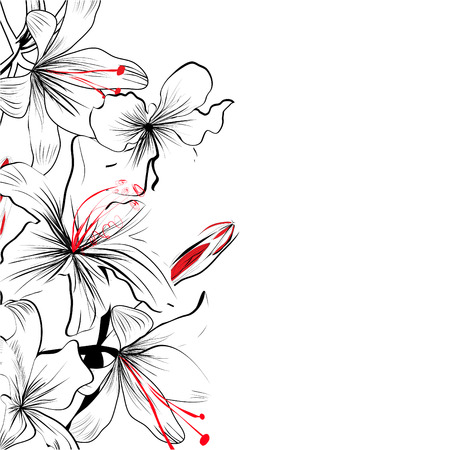 flore: Romantic floral background Illustration