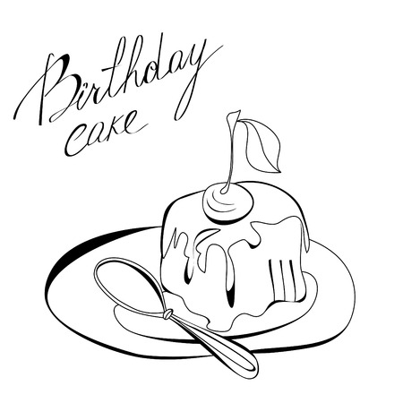 Birthday cake Stock Vector - 7908841