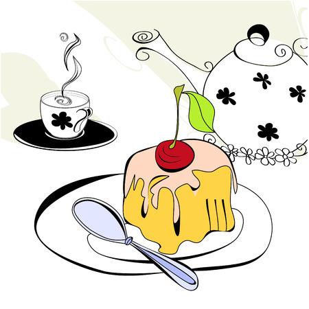 custard flavor: Tea time