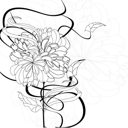 Monochrome floral background Stock Vector - 7908880