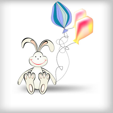 Rabbit with ballons Stock Vector - 7908876