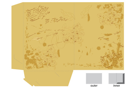 Vintage template for map design Vector