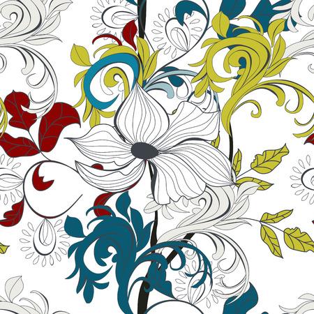 paeony: Seamless wallpaper