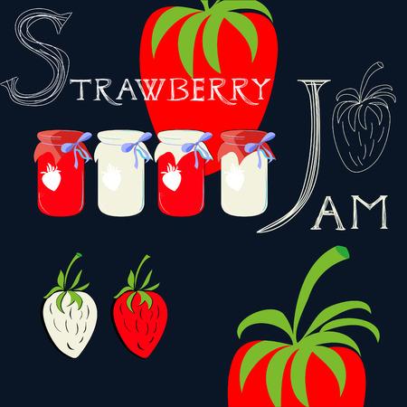 Strawberry jam Stock Vector - 8005537