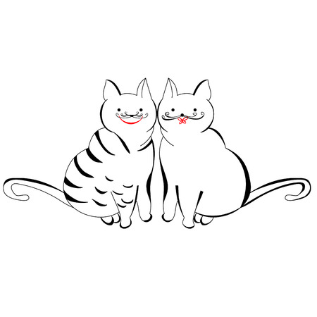 Two cats Stock Vector - 8005501