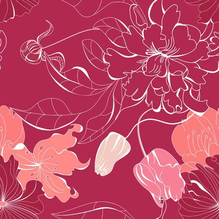 Colorful seamless wallpaper Vector