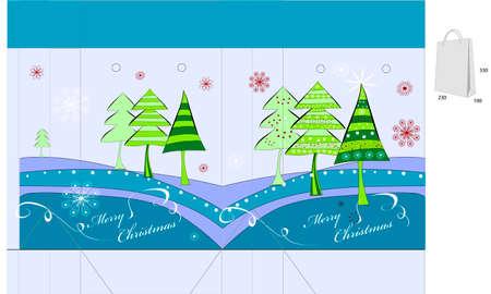 Template for christmas bag design Stock Vector - 8154389