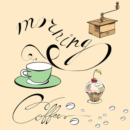 coffee mill: Morning coffee