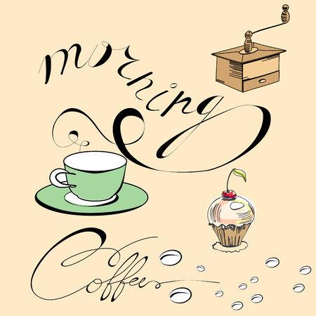 Morning coffee Stock Vector - 8154351