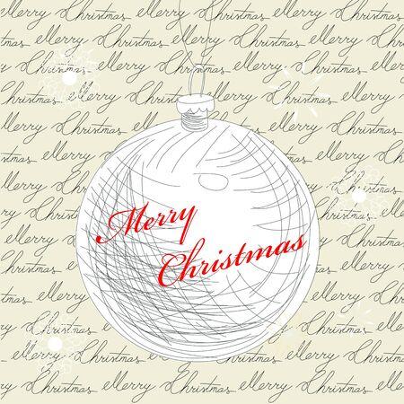 Retro stylized christmas card Vector